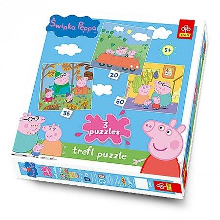 Пазлы Trefl 3 в 1 - Свинка Пеппа. 20-50 pcs (34057)