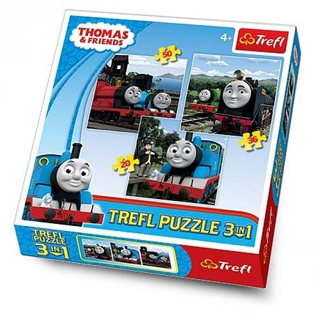 Пазлы Trefl 3 в 1 - Томас и друзья. 20-50 pcs (34083)