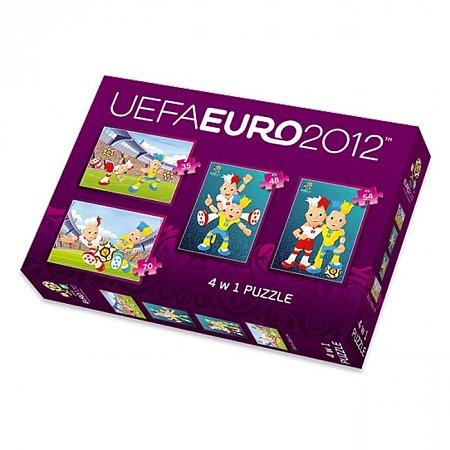 Пазлы Trefl 4 в 1 - Euro 2012. 35-70 pcs (34089)