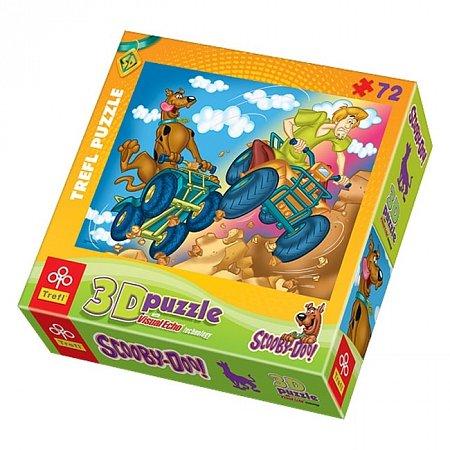 Пазл Trefl 3D - Скуби-Ду На квадроциклах. 72 pcs (35543)