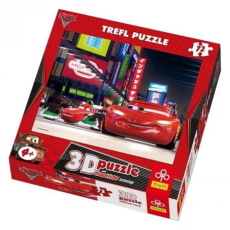 Пазл Trefl 3D - Тачки-2 МакКуин и Франческо. 72 pcs (35556)