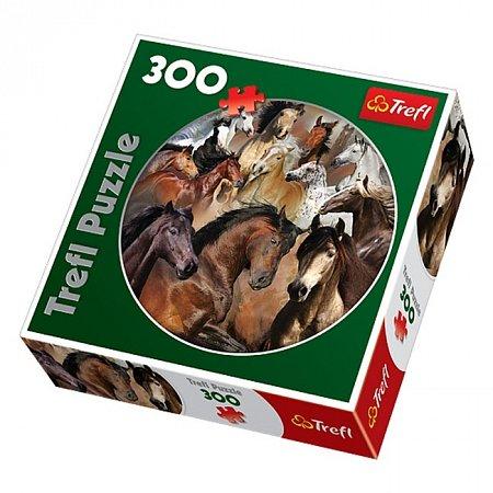 Пазлы Trefl круглые - Лошади. 300 pcs (39043)