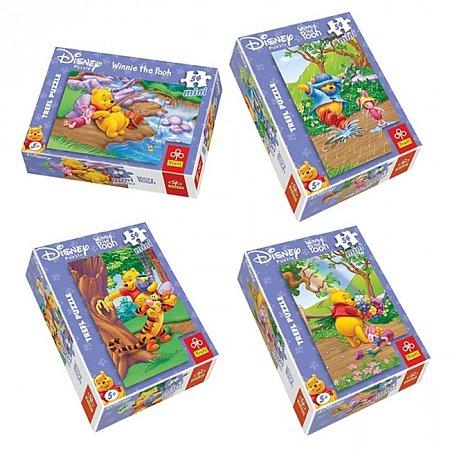 Пазлы Trefl Mini 54 (4 в 1) - Винни Пух Весенние игры. 4х54 pcs (54054)