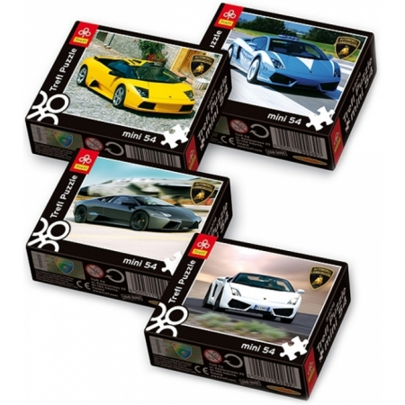 Пазлы Trefl Mini 54 (4 в 1) - Lamborghini. 4х54 pcs (54074)
