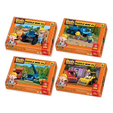 Пазлы Trefl Mini 54 (4 в 1) - Боб-строитель. 4х54 pcs (54090)