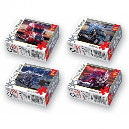 Пазлы Trefl Mini 54 (4 в 1) - Американские грузовики. 4х54 pcs (54100)