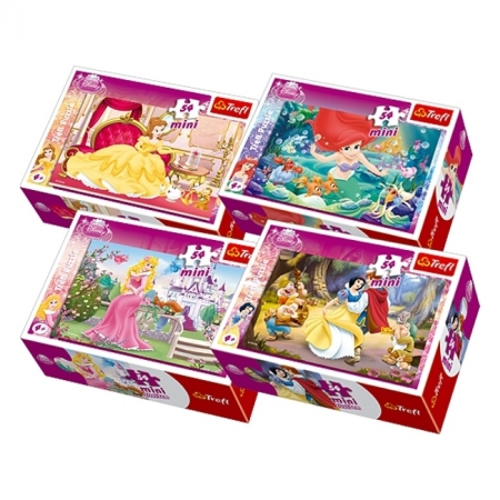 Пазлы Trefl Mini 54 (4 в 1) - Принцессы. 4х54 pcs (54105)