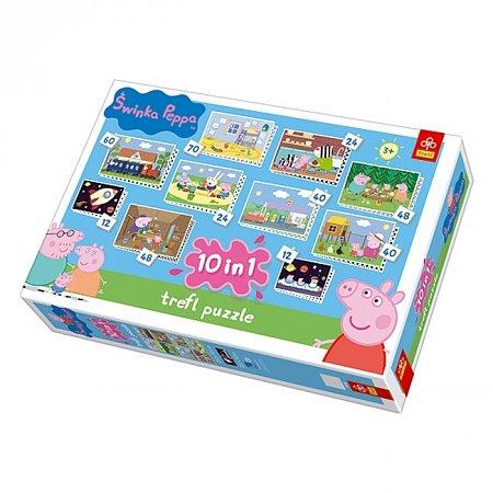 Пазлы Trefl 10 в 1 - Свинка Пеппа. 12-70 pcs (90150)
