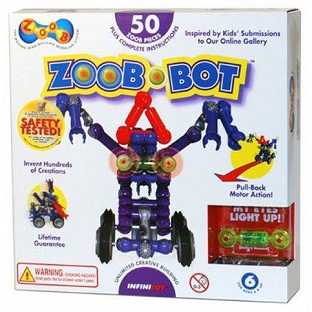Конструктор ZOOB BOT с инерционным механизмом и световым эффектом (набор с колесами)