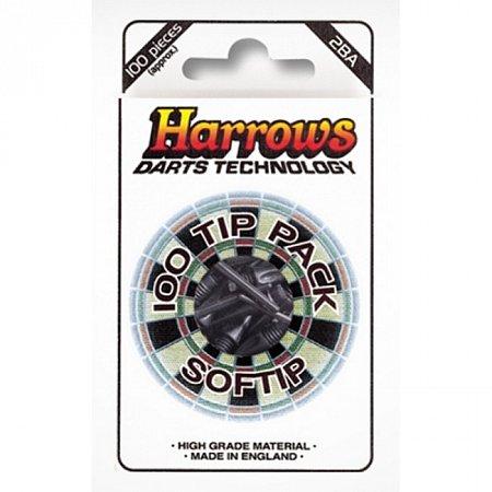 Наконечники для дротиков Harrows SofTip Pack, 13 мм, 100 шт