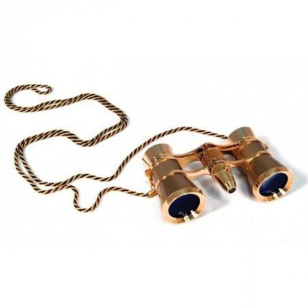 Бинокль Levenhuk Broadway 325F (золотой, с подсветкой и цепочкой) (арт. 28818)