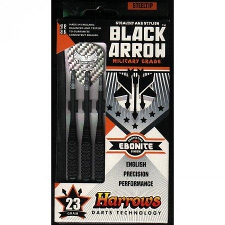 Дротики Harrows Black Arrow steeltip 23g