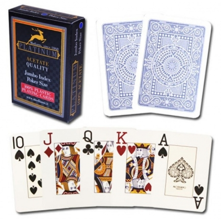 Карты Modiano Platinum Poker Acetate Jumbo, blue