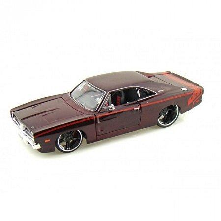 Автомодель 1969 Dodge Charger R/T тёмно-красный - тюнинг. MAI31091DR