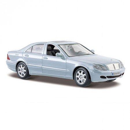 Автомодель 2002 Mercedes-Benz S-Class (серебристо-синий). MAI31955SB