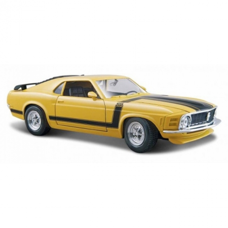 Автомодель 70 Ford Boss Mustang (жёлтый). MAI31943Y