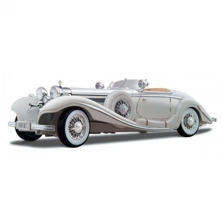 Автомодель Mercedes-Benz 500 K Typ Specialroadster (1936) Macharadga (белый). MAI36055W