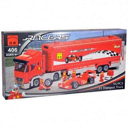 Конструктор Brick Транспортный фургон Формулы-1. к0406