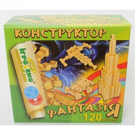 Деревянный конструктор Фантазия, 120 деталей