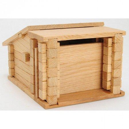 Деревянный конструктор Гараж, 79 деталей