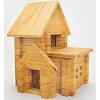 Деревянный конструктор Домик с гаражом, 66 деталей