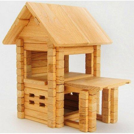 Деревянный конструктор Домик с верандой, 102 деталей