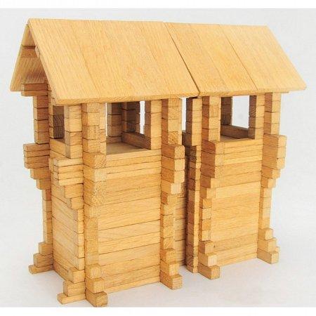 Деревянный конструктор Городская стена, 206 деталей