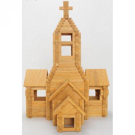 Деревянный конструктор Храм, 393 детали