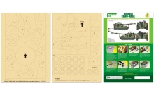 Airbrush CAMO-MASK for 1/35 M109A2 US Army Camouflage Scheme 1, арт. PPA5078