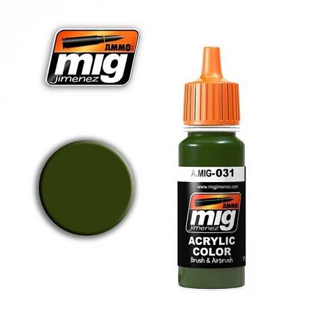 Акриловая краска Ammo A.MIG-031 Spanish Green-Khaki
