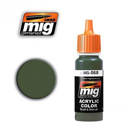 Акриловая краска Ammo A.MIG-068 IDF GREEN