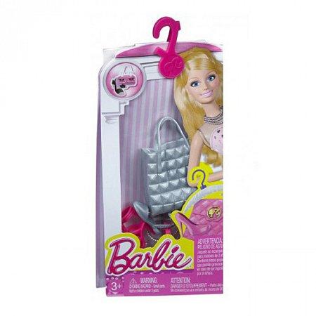 Аксессуары для Барби - Гламур, Barbie, Mattel, серебристая сумка, CFX30-3