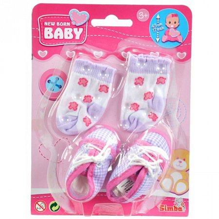 Аксессуары для пупса, обувь в клеточку и носки, New Born Baby, 556 0844-3