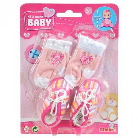 Аксессуары для пупса, полосатая обувь и носки, New Born Baby, 556 0844-2