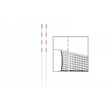 Антенны (2шт) для сетки волейбольной UR SO-5259 (стекловолокно, l-1,8м, d-10мм, белый-красный)