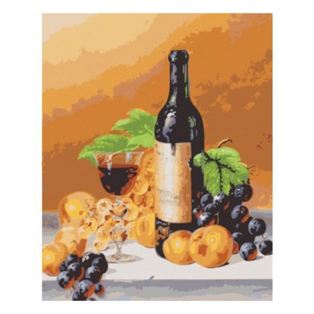 Аромат вина, Серия Букет, рисование по номерам, 40 х 50 см, Идейка, Аромат вина (KH2066)