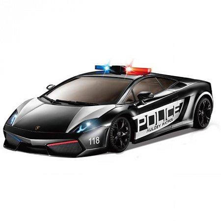Автомобиль радиоуправляемый - LAMBORGHINI - LP560-4 GALLARDO POLICE (черный, 1:16, полицейск. сирена), Auldey LC258840