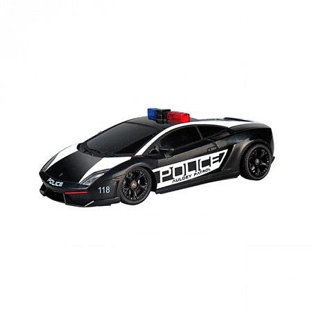 Автомобиль радиоуправляемый - LAMBORGHINI - LP560-4 GALLARDO POLICE (черный, 1:28, свет мигалки), Auldey LC296840