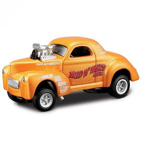 Автомодель (1:18) 1941 Willys Coupe оражевый металлик. Maisto 32202 met. Orange