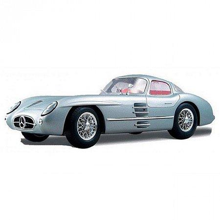 Автомодель (1:18) 1955 Mercedes Benz 300 SLR Uhlenhaut Coupe (серебристый), Maisto 36898S