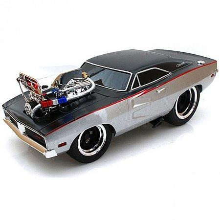 Автомодель (1:18) 1969 Dodge Charger R/T чёрно-серебристый. Maisto 32209 black/silver