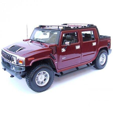 Автомодель (1:18) 2001 HUMMER H2 SUT Concept (красный металлик). Maisto 36633 red