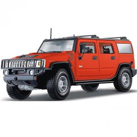Автомодель (1:18) 2003 HUMMER H2 SUV (тёмно-оранжевый металлик). Maisto 36631 orange