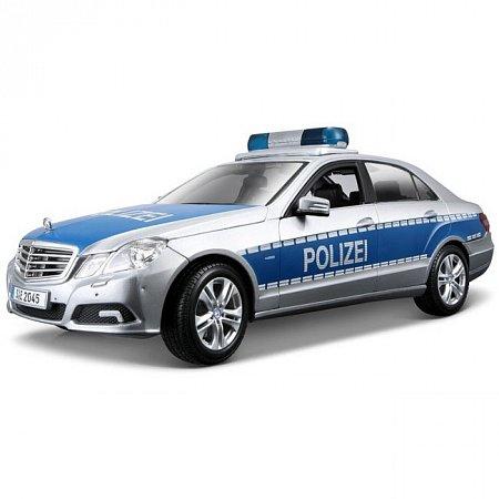 Автомодель (1:18) Mercedes Benz E-Class German Police version (серебристо-синий). Maisto 36192 silver-blue