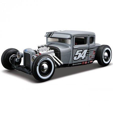 Автомодель (1:24) 1929 Ford Model A (тюнинг). Maisto 31354 grey