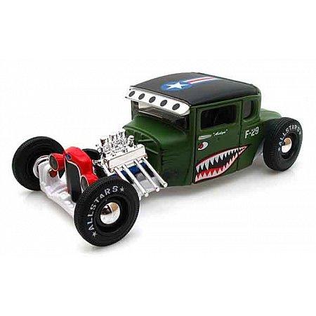 Автомодель (1:24) 1929 Ford Model A зелёный - тюнинг, Maisto 31354 green