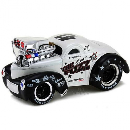 Автомодель (1:24) 1941 Willys Coupe. Maisto 32237 white/black