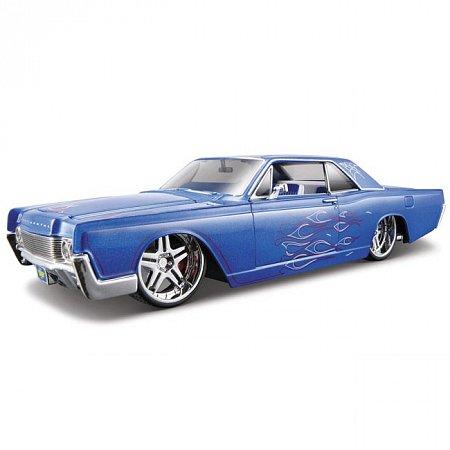 Автомодель (1:24) 1966 Linсoln Continental (тюнинг). Maisto 31037 blue