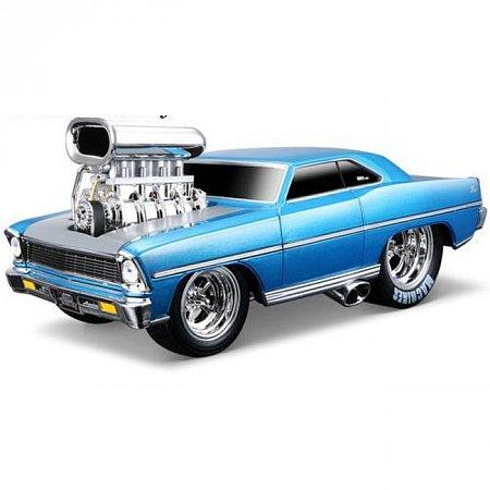 Автомодель (1:24) 1967 Chevrolet Nova SS. Maisto 32239 met. blue