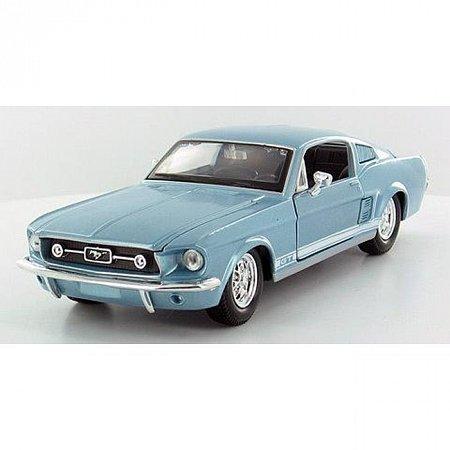 Автомодель (1:24) 1967 Ford Mustang GT (синий металлик), Maisto 31260MB